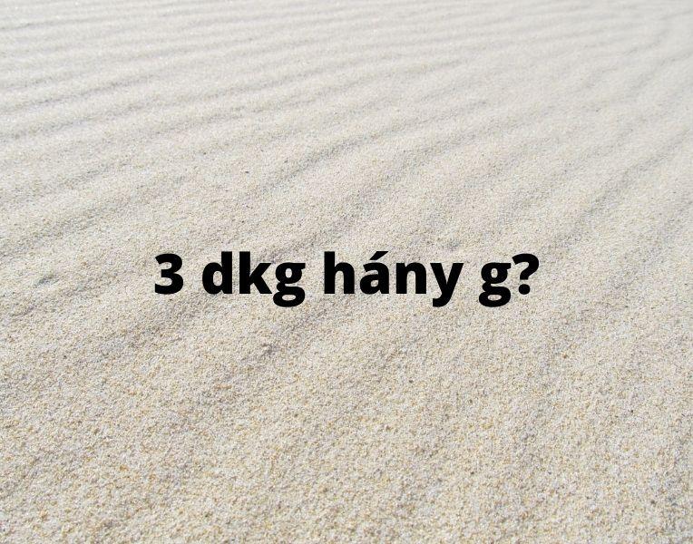 3 dkg hány g